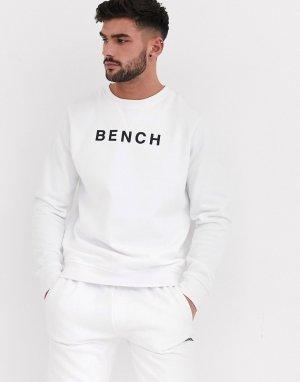 Свободный свитшот с принтом спереди -Белый Bench