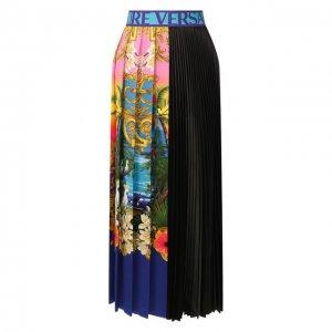 Юбка-миди Versace Jeans Couture. Цвет: разноцветный