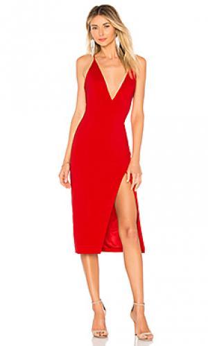 Платье миди gwendoline Jay Godfrey. Цвет: красный