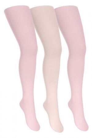 Колготки yula. Цвет: розовый, крем