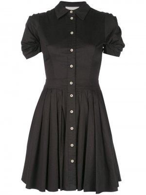 Расклешенное короткое платье-рубашка Alexis