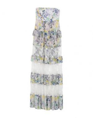 Длинное платье ANNARITA N. Цвет: слоновая кость