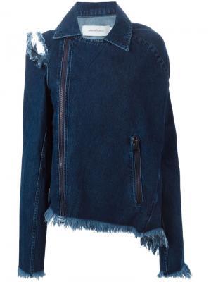 Джинсовая куртка с рваными деталями Marques Almeida. Цвет: синий