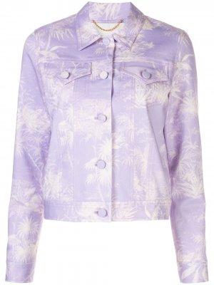 Укороченная куртка с принтом Adam Lippes. Цвет: фиолетовый
