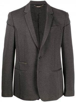 Пиджак из джерси с окантовкой Philipp Plein. Цвет: серый
