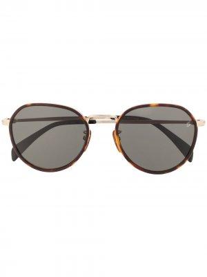 Солнцезащитные очки 1010/G/S в круглой оправе Eyewear by David Beckham. Цвет: коричневый