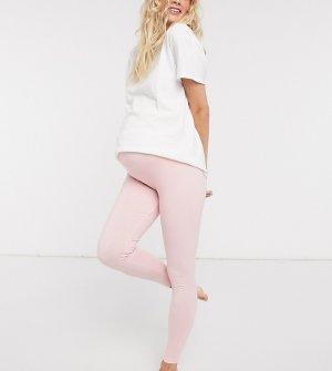Розовые трикотажные леггинсы от пижамы ASOS DESIGN Maternity-Розовый Maternity