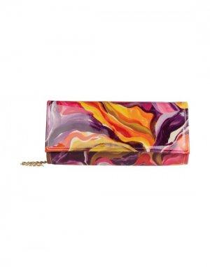 Средняя кожаная сумка BRUNO AMARANTI. Цвет: пурпурный