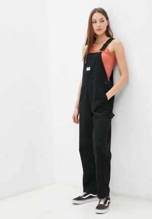 Комбинезон джинсовый Vans GROUND WORK OVERALL. Цвет: черный