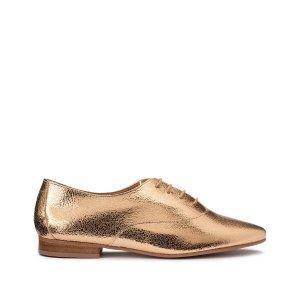 Ботинки-дерби LaRedoute. Цвет: золотистый