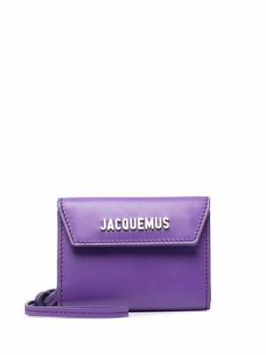 Logo-plaque leather wallet Jacquemus. Цвет: фиолетовый