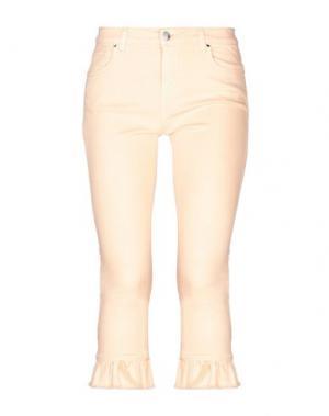 Джинсовые брюки-капри FIFTY FOUR. Цвет: абрикосовый