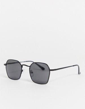 Квадратные солнцезащитные очки -Черный AJ Morgan