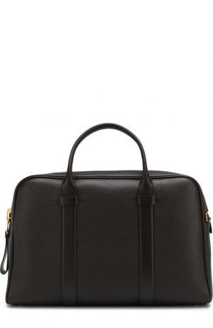 Кожаная сумка для ноутбука с плечевым ремнем Tom Ford. Цвет: коричневый