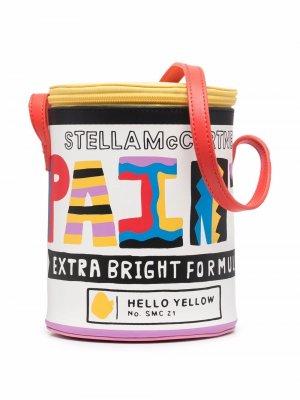 Сумка на плечо с принтом Stella McCartney Kids. Цвет: коричневый