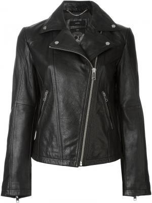 Кожаная куртка Diesel. Цвет: чёрный