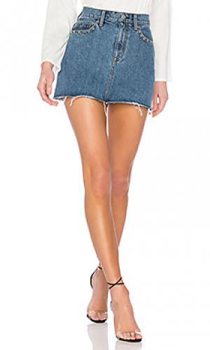 Юбка viper Hudson Jeans. Цвет: синий