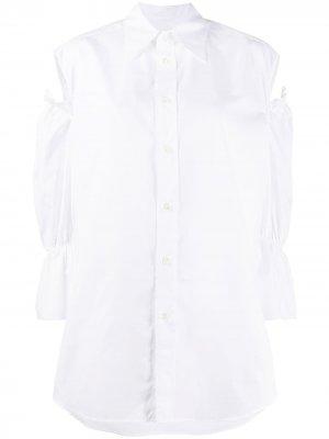 Рубашка оверсайз с вырезами Vivienne Westwood Anglomania. Цвет: белый