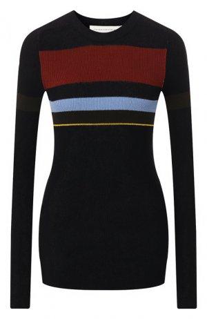 Хлопковый пуловер Victoria Beckham. Цвет: разноцветный