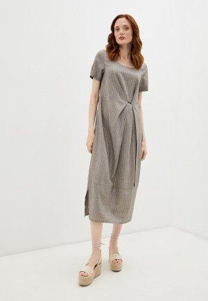 Платье Dimma. Цвет: коричневый