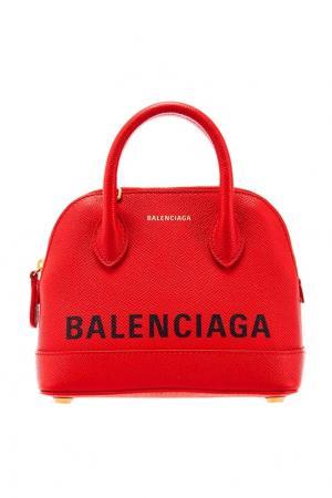 Красная микросумка Ville Top Handle XXS Balenciaga. Цвет: красный