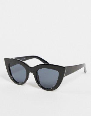 Женские солнцезащитные очки «кошачий глаз» черного цвета Ya Girls-Черный цвет AJ Morgan