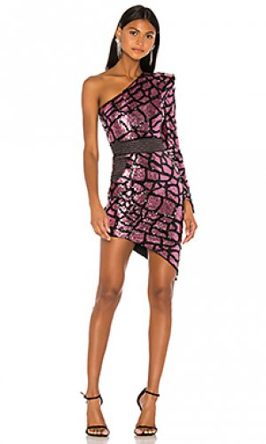 Мини платье karijini Zhivago. Цвет: pink,black
