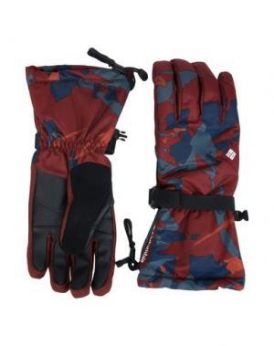 Перчатки COLUMBIA. Цвет: красно-коричневый