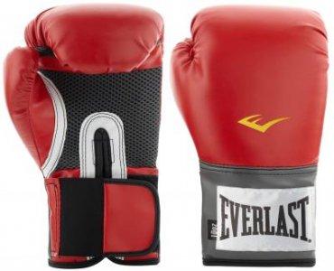 Перчатки тренировочные PU Pro Style, размер 12 oz Everlast. Цвет: красный