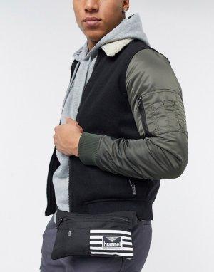 Черная сумка-кошелек на пояс -Черный цвет Hummel