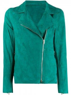 Куртка на молнии с длинными рукавами Salvatore Santoro. Цвет: зеленый