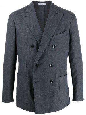 Двубортный пиджак Boglioli. Цвет: синий