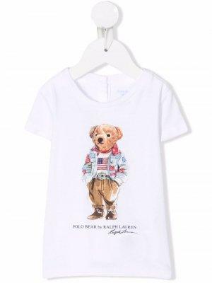 Teddy bear t-shirt Ralph Lauren Kids. Цвет: белый