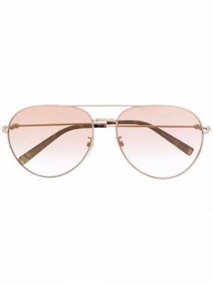 Солнцезащитные очки-авиаторы с затемненными линзами Givenchy Eyewear. Цвет: золотистый