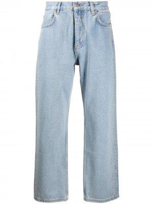 Широкие джинсы Rassvet. Цвет: синий