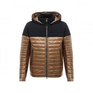 Утепленная куртка Bogner. Цвет: коричневый