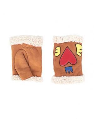 Перчатки AGNELLE. Цвет: верблюжий