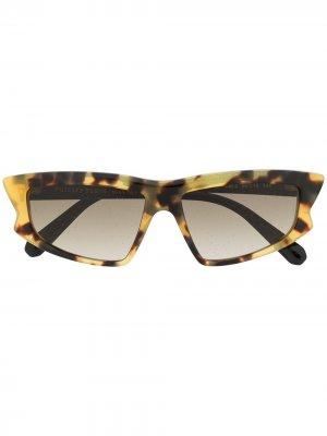 Солнцезащитные очки в оправе черепаховой расцветки Philipp Plein. Цвет: коричневый