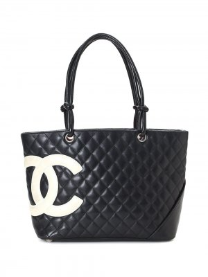Сумка-тоут Cambon Line с логотипом CC Chanel Pre-Owned. Цвет: черный