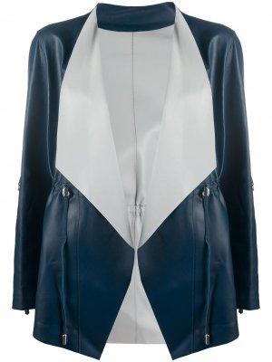 Куртка с запахом Suprema. Цвет: синий