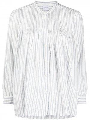 Полосатая рубашка на пуговицах Aspesi. Цвет: белый