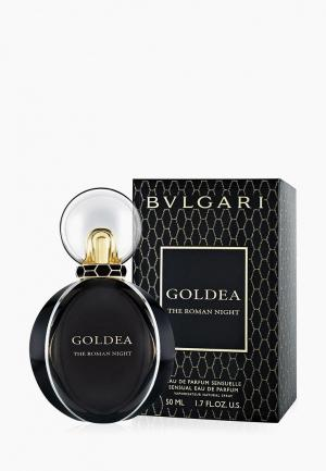 Парфюмерная вода Bvlgari Goldea The Roman Night, 50 мл. Цвет: черный