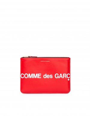 Красный кожаный кошелек с молнией Comme des Garcons Wallets