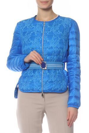 Куртка Via delle Perle. Цвет: синий