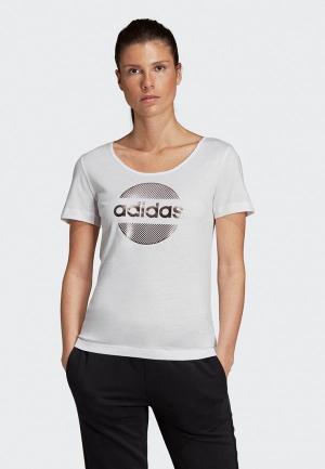 Футболка adidas Linear Tee II. Цвет: белый