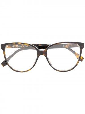 Очки Etoile в круглой оправе Dior Eyewear. Цвет: коричневый