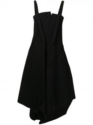 Ys платье-сарафан с драпировкой Y's. Цвет: черный