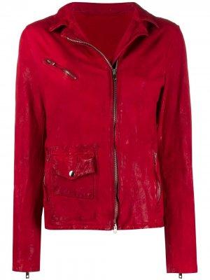 Куртка на молнии с длинными рукавами Salvatore Santoro. Цвет: красный