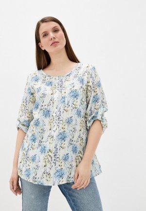 Блуза Electrastyle. Цвет: голубой