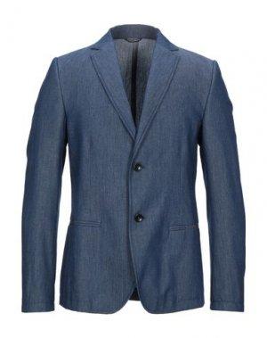 Пиджак DANIELE ALESSANDRINI HOMME. Цвет: синий